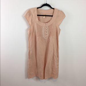 Anthropologie Maeve Linen Shift Dress Size Small